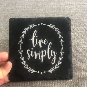 """Urban Outfitters """"Live Simply"""" Decor Piece"""